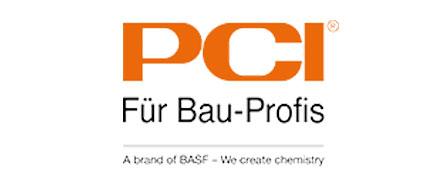Das Logo von PCI für Bauprofis