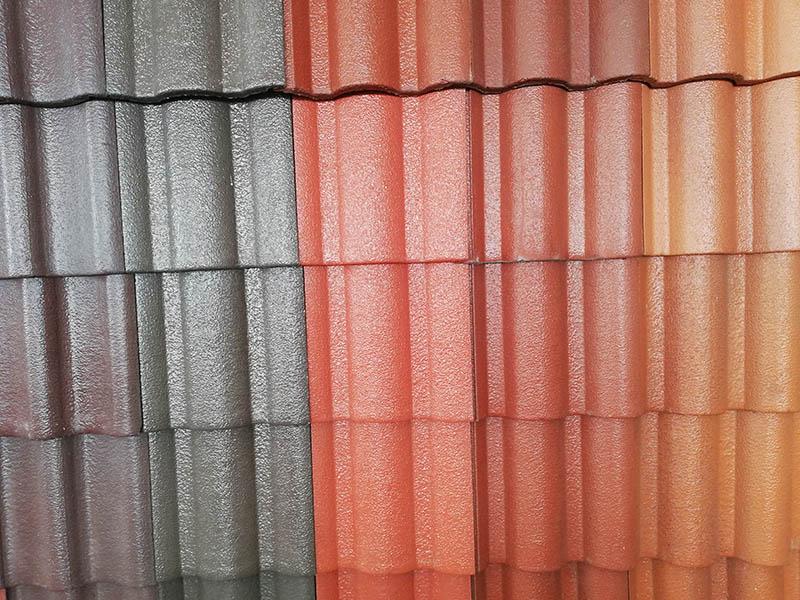 Farben der Dachbeschichtung