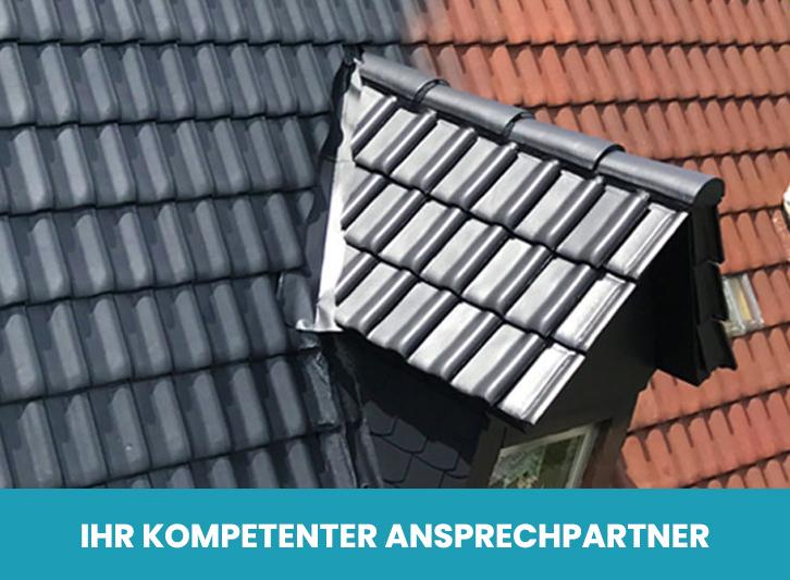 Vorher-nachher-Vergleich Dachbeschichtung