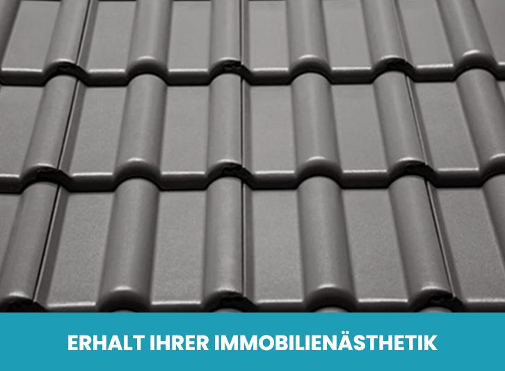 Frisch beschichtetes Dach Bautenschutz Schramm