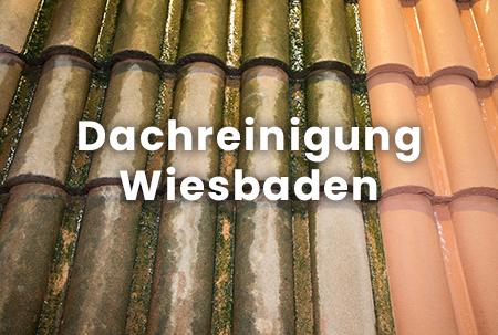 Faszinierender Unterschied vor und nach der Dachreinigung in Wiesbaden